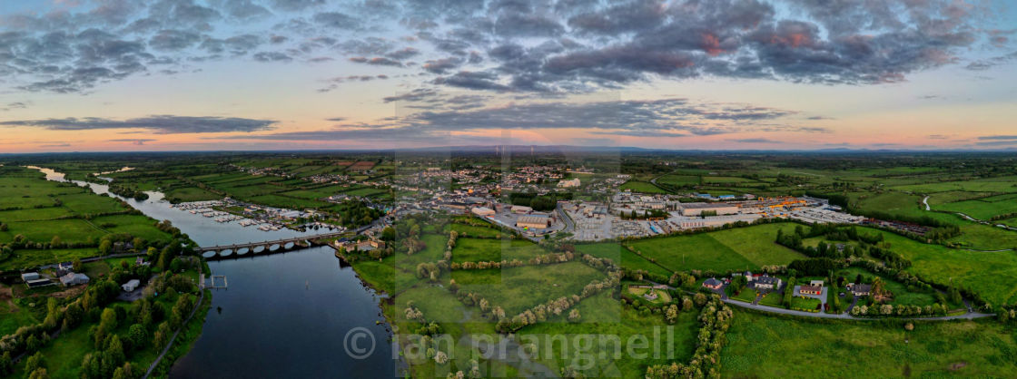 """""""Banagher Co Offaly With River Shannon"""" stock image"""