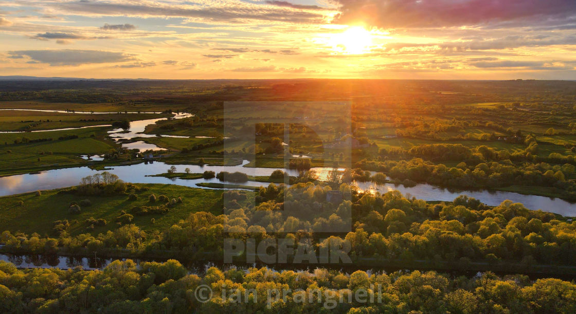 """""""Sunset over the River Shannon Meekick Co Tipperay"""" stock image"""