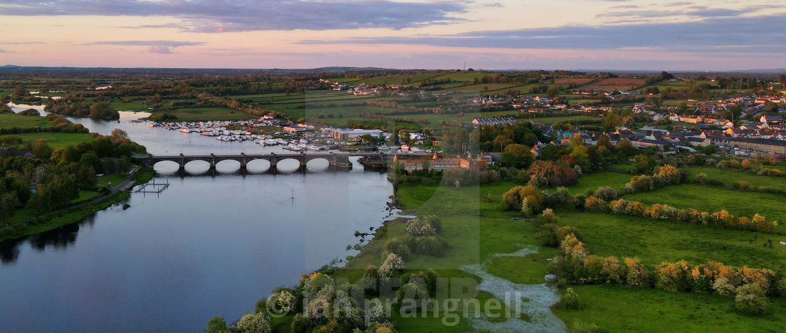 """""""Banagher on the River Shannon In Offaly"""" stock image"""