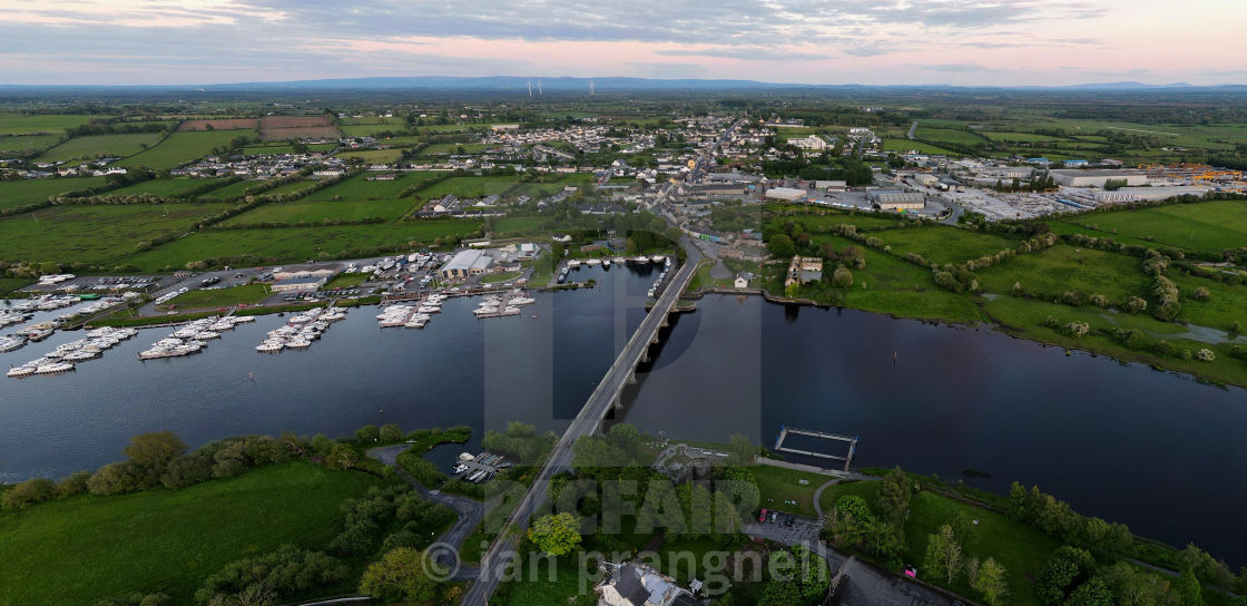 """""""Banagher Co Offaly Ireland"""" stock image"""