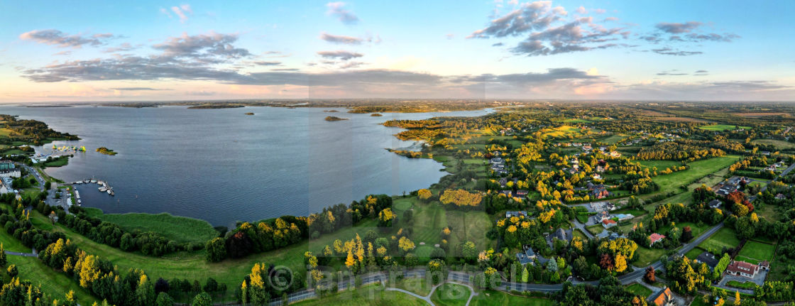 """""""Athlone , Hodson Bay and Lough Ree"""" stock image"""