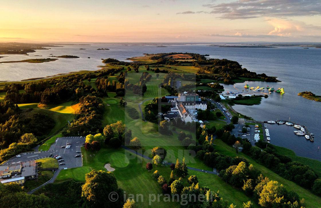 """Yew Point Hodson Bay Lough ree Ireland"" stock image"