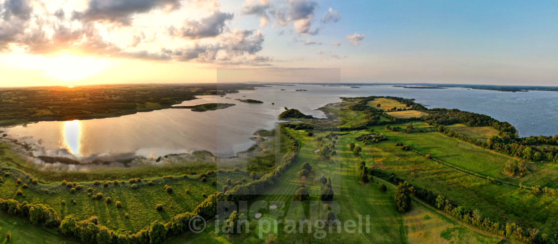 """""""Yew Point and Lough Ree and Co Roscommon"""" stock image"""