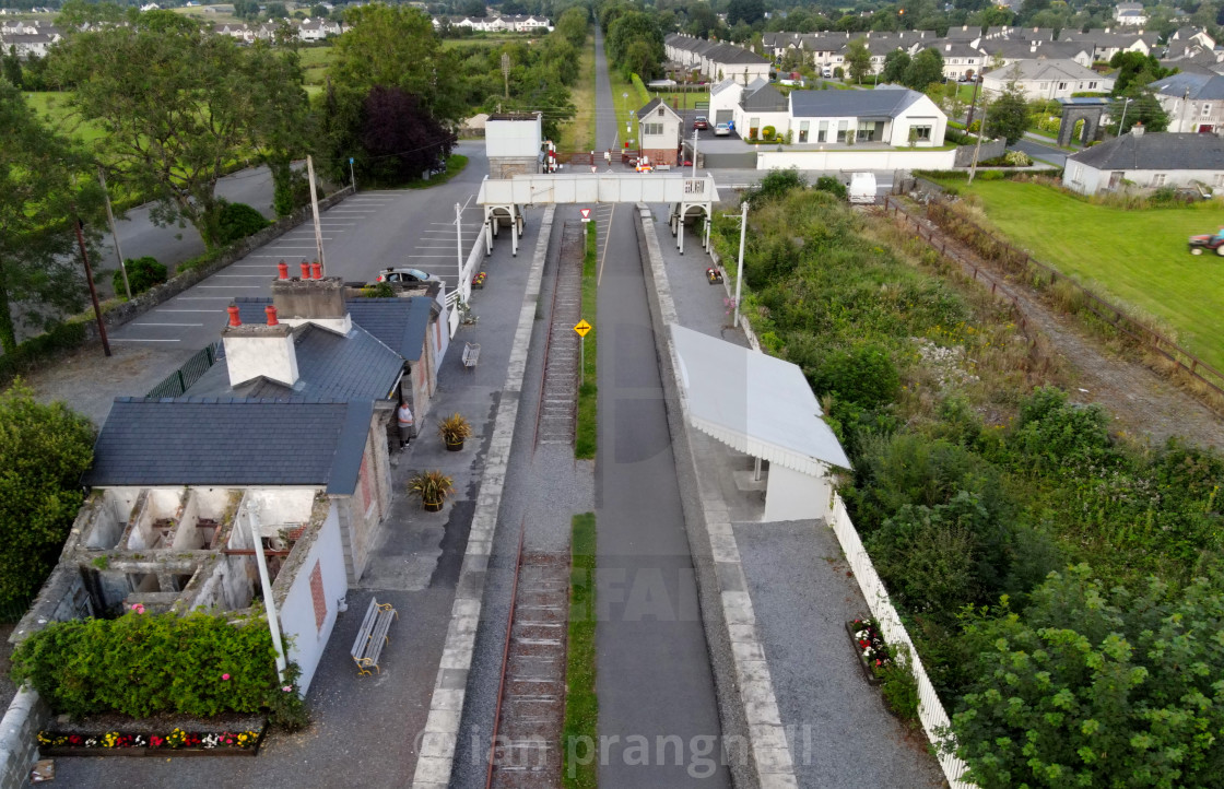 """""""Moate 1851 Station Old Rail Trail"""" stock image"""