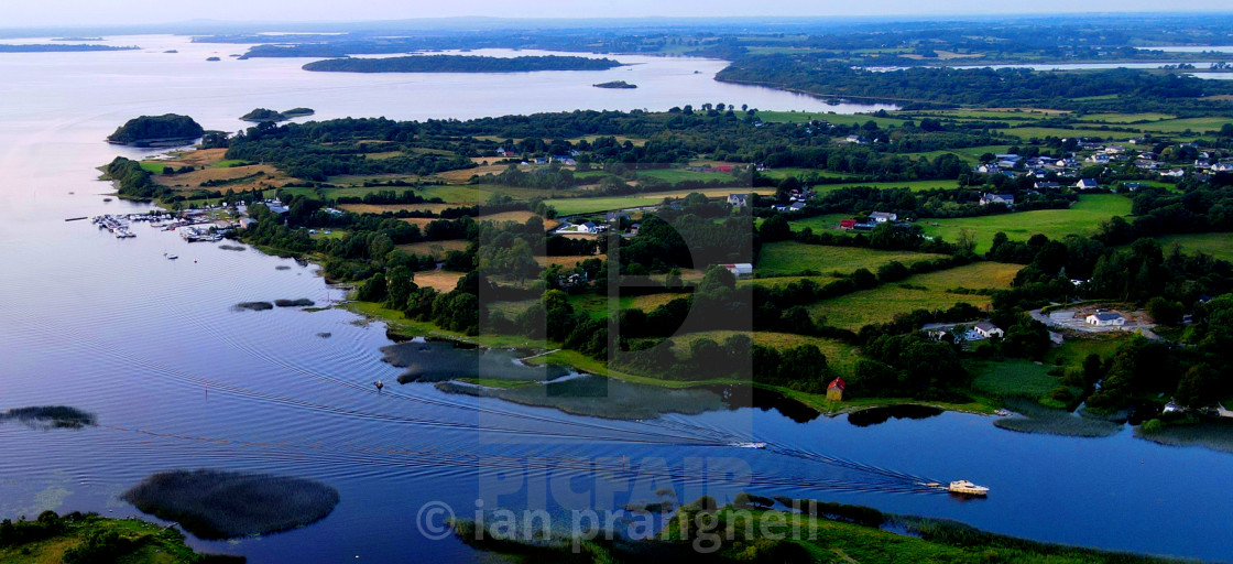 """""""River Shannon & Lough Ree"""" stock image"""