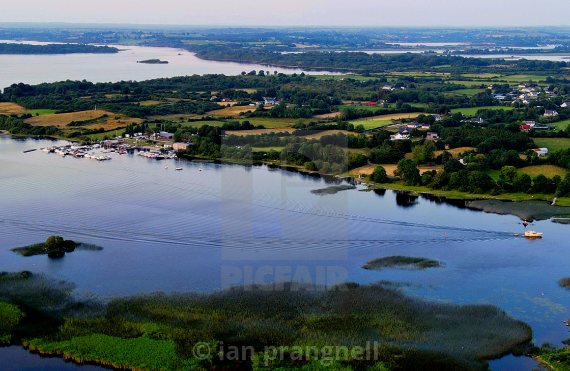 """""""Athlone Yacht Club & River Shannon"""" stock image"""