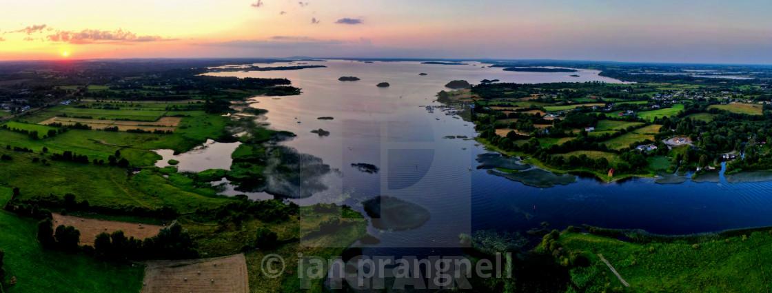 """The Beginning of Lough Ree Ireland"" stock image"