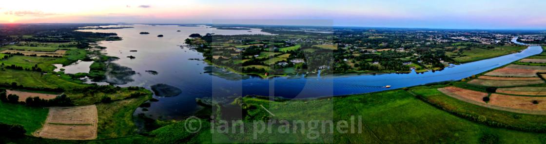 """Waterways Ireland & Lough ree"" stock image"