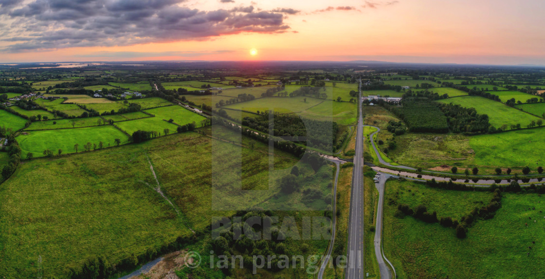"""Co Longford Ireland in Sunset"" stock image"