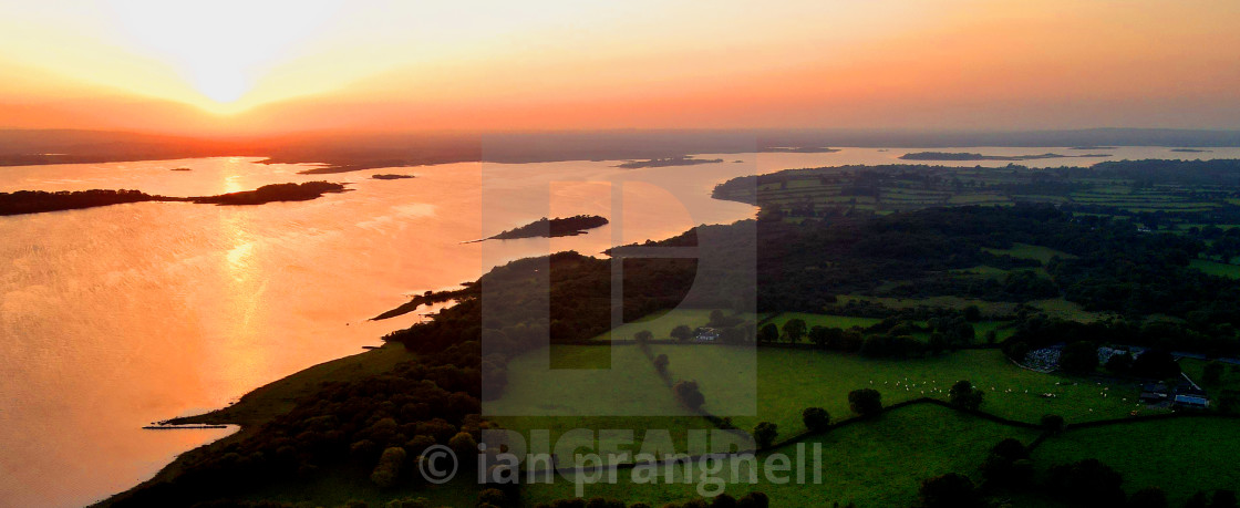 """""""County Longford Sunsets over Lough Ree"""" stock image"""