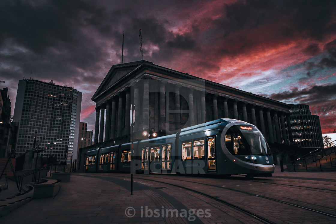 """""""Tram x Town Hall"""" stock image"""