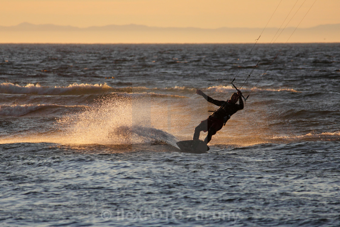 """Kiteboarding"" stock image"