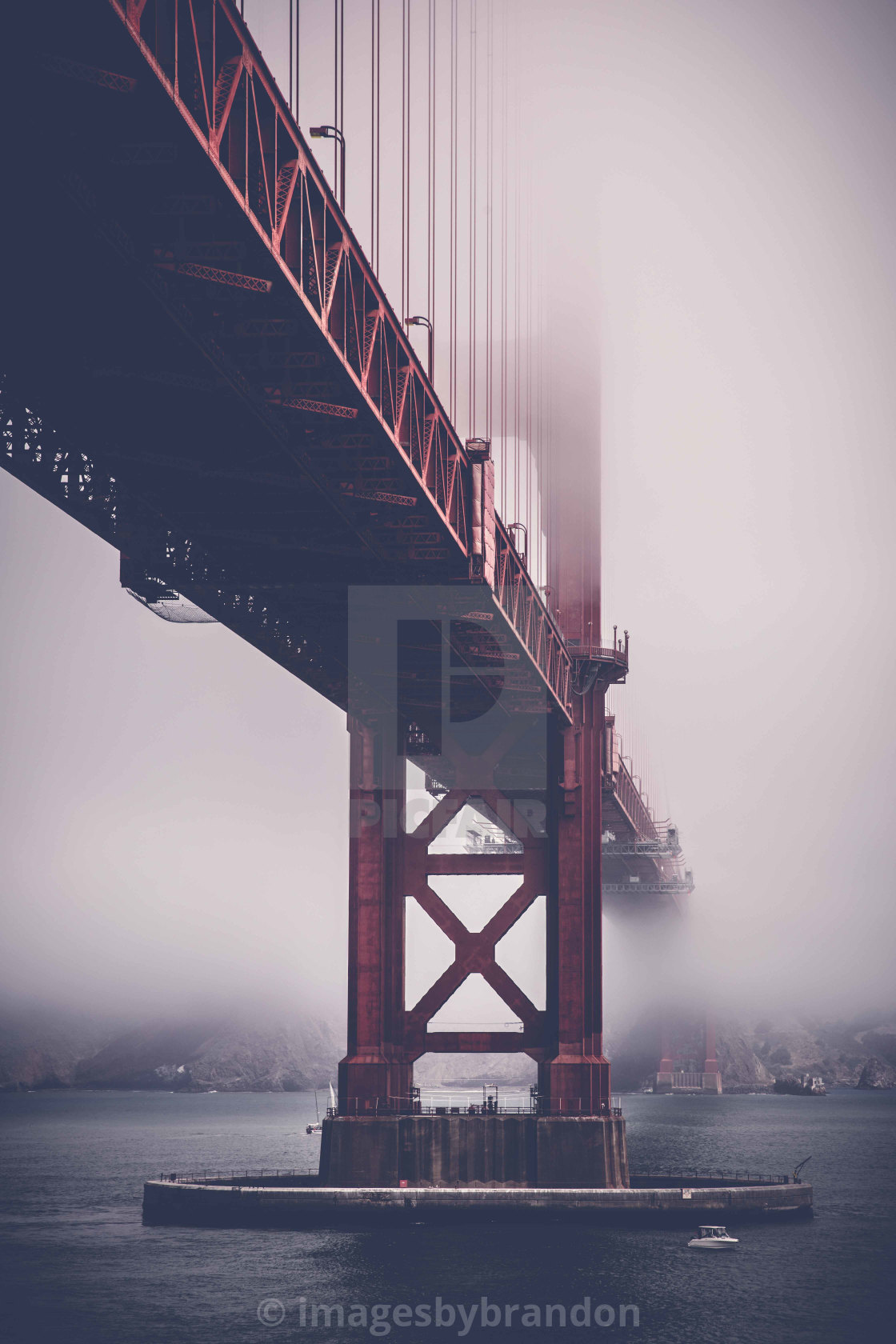 """Golden Gate fog"" stock image"