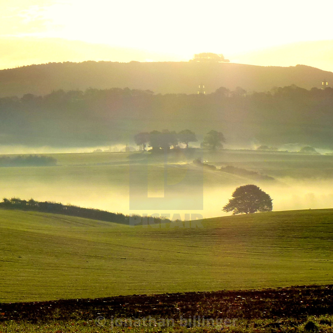 """""""Autumnal Dawn - May Hill"""" stock image"""