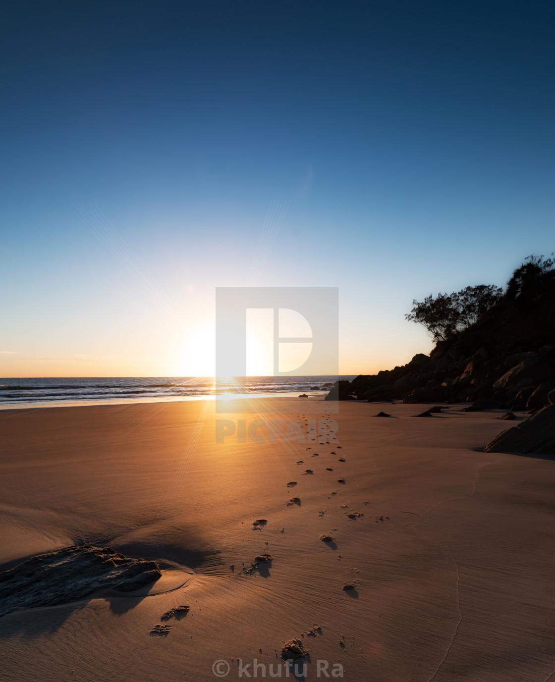 """Sunrise at Evans Head"" stock image"