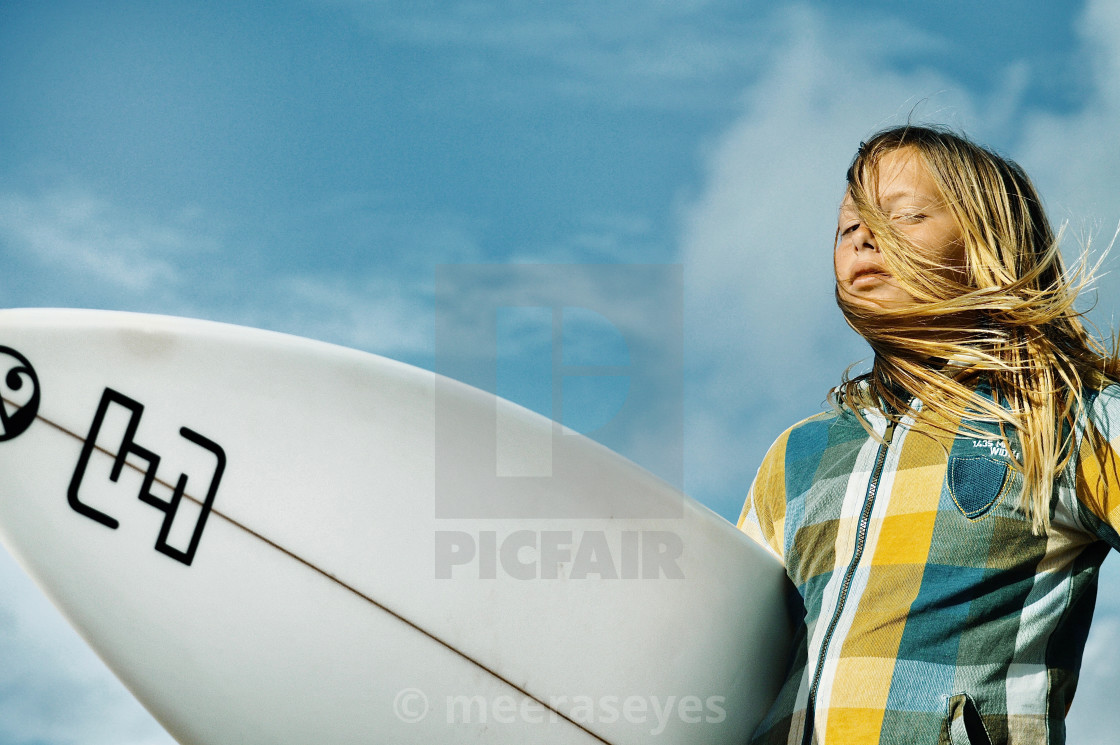 """Blond Surfer Boy"" stock image"