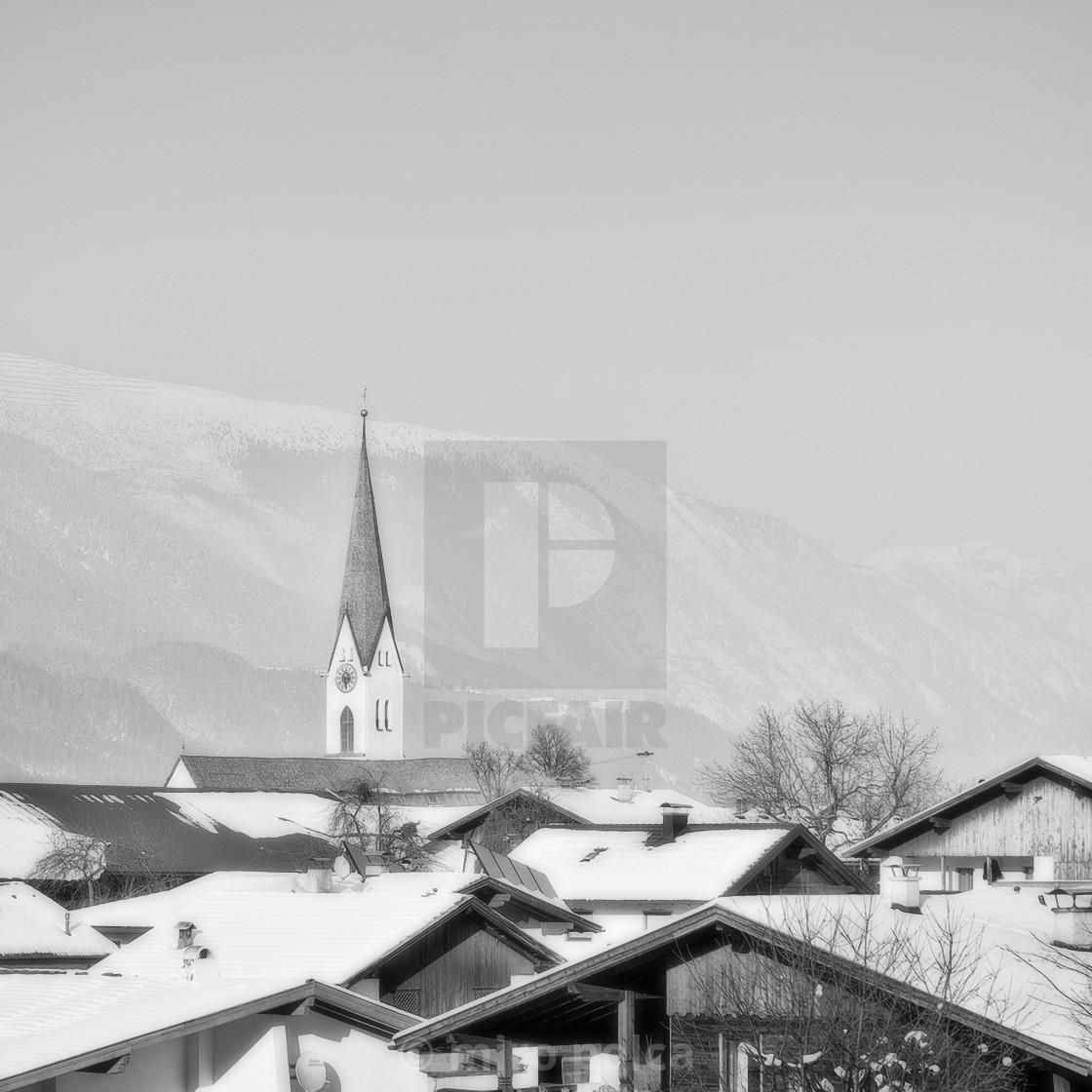 """Tyrolean village"" stock image"
