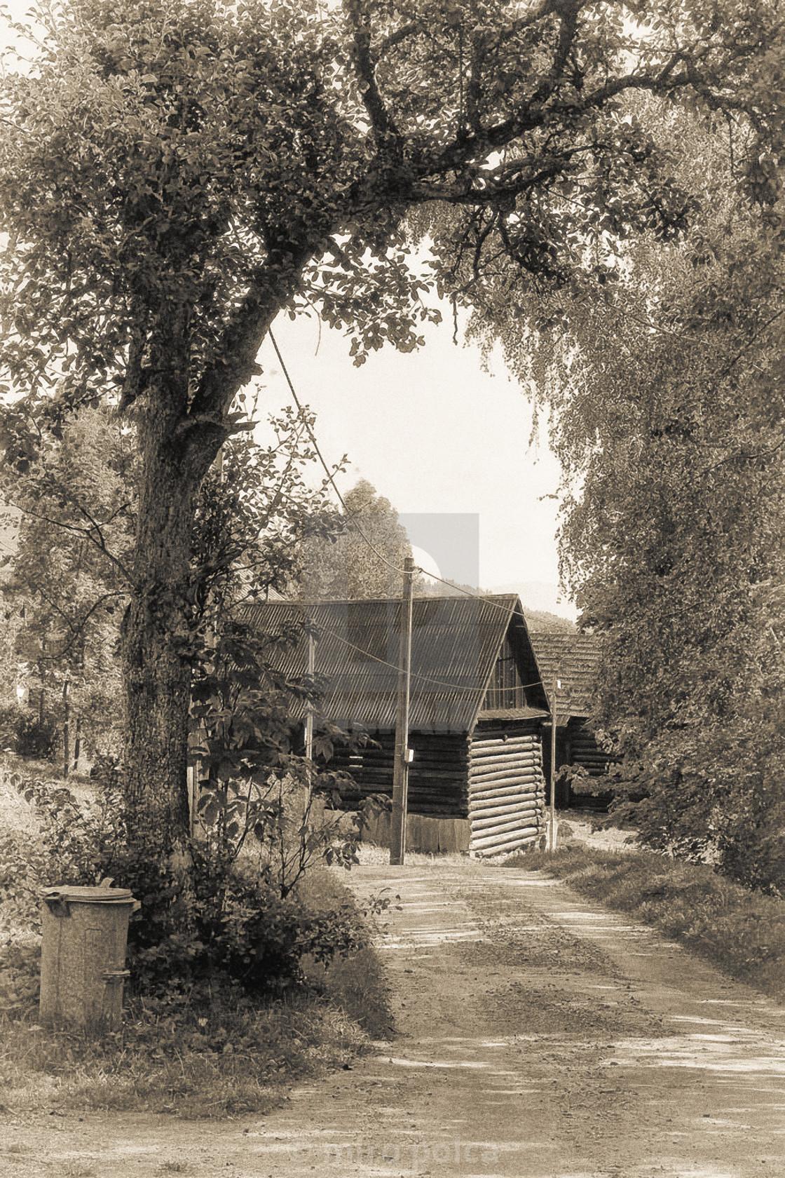 """wooden village"" stock image"