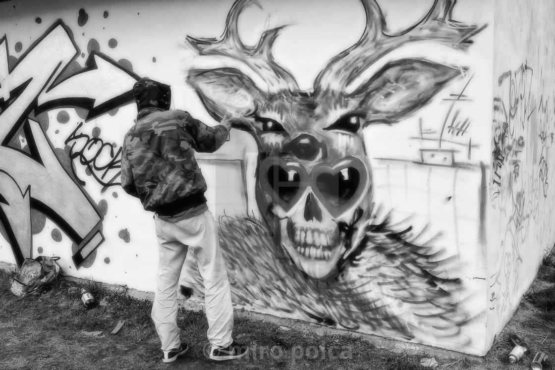 """graffiti sprayer"" stock image"