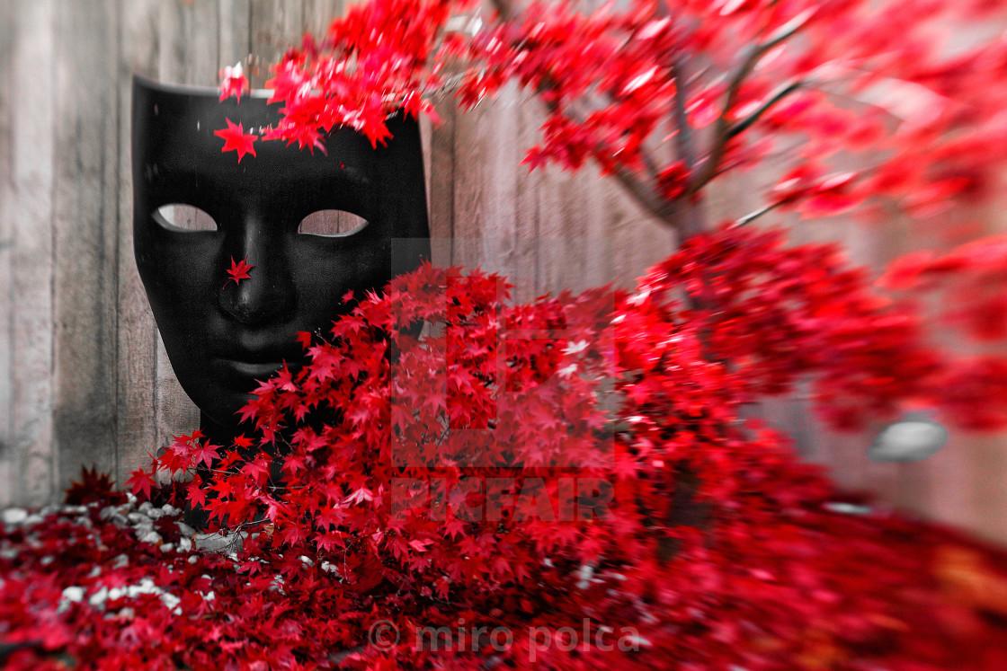 """""""mask of autumn"""" stock image"""
