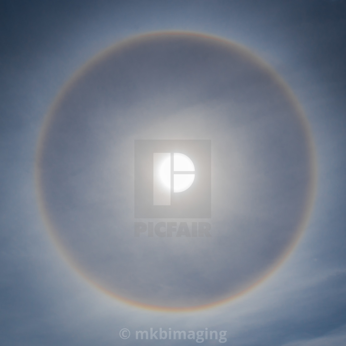 """Sun Halo"" stock image"