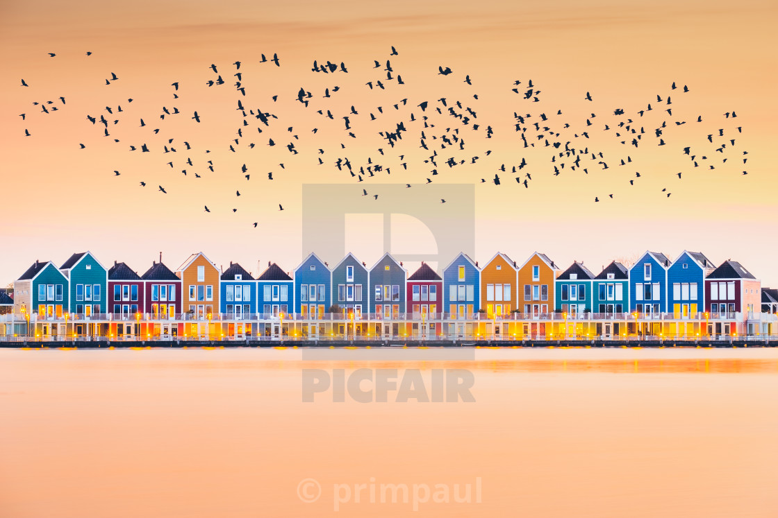 """""""Colorful Houses"""" stock image"""