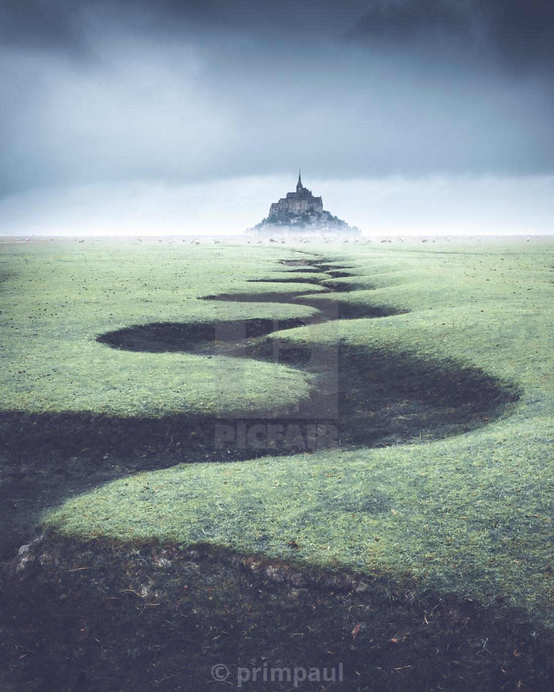 """""""Mont Saint Michel #1"""" stock image"""
