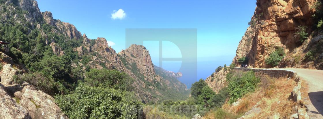"""Corsica panoramic view"" stock image"