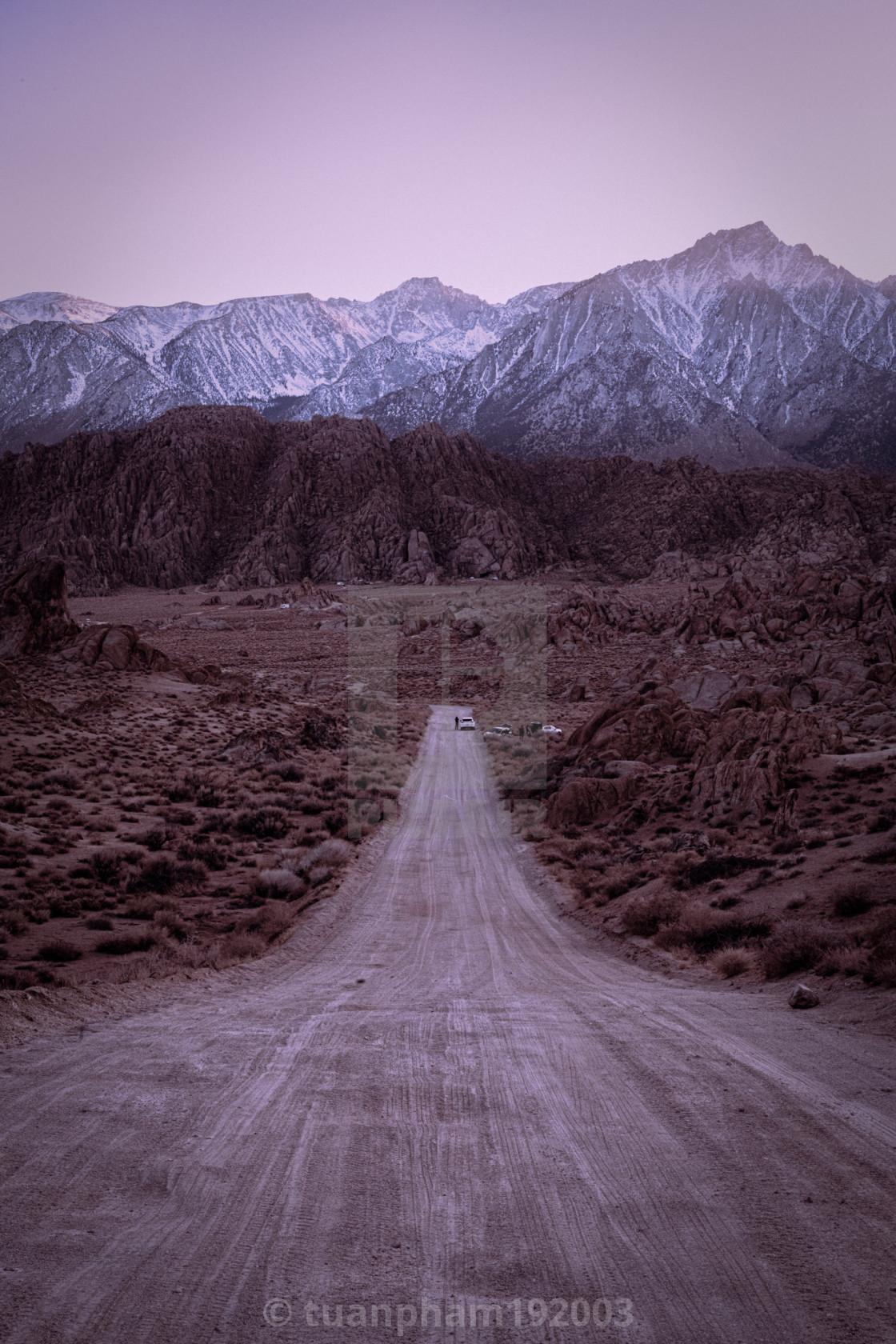"""Movie Road, Lone Pine"" stock image"