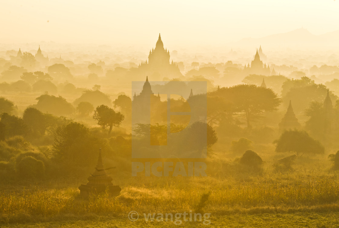 """The sunrise of Pagoda"" stock image"