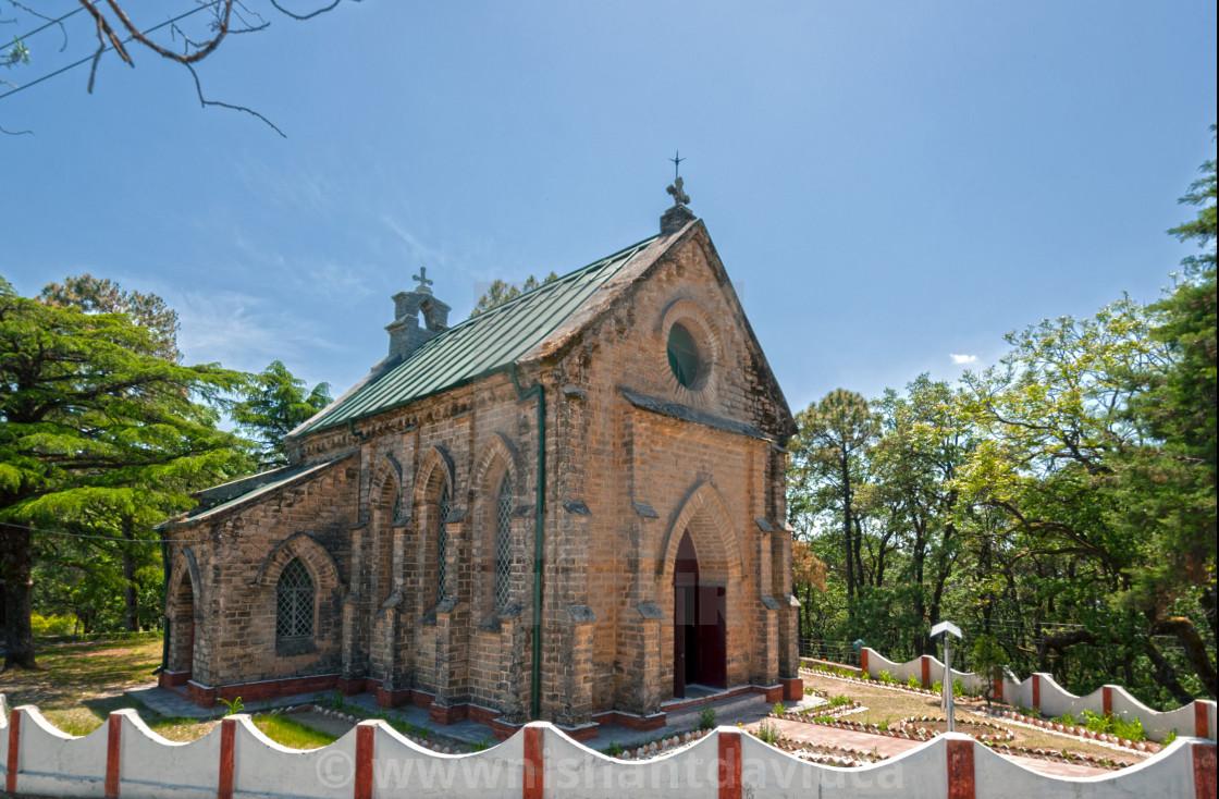 """""""ST MARY'S CHURCH AT LANSDOWNE, UTTARAKHAND, india"""" stock image"""