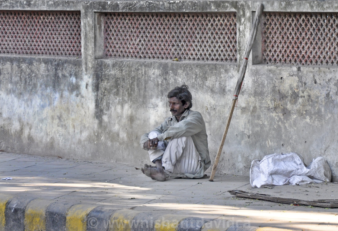 """""""A Homeless Beggar"""" stock image"""