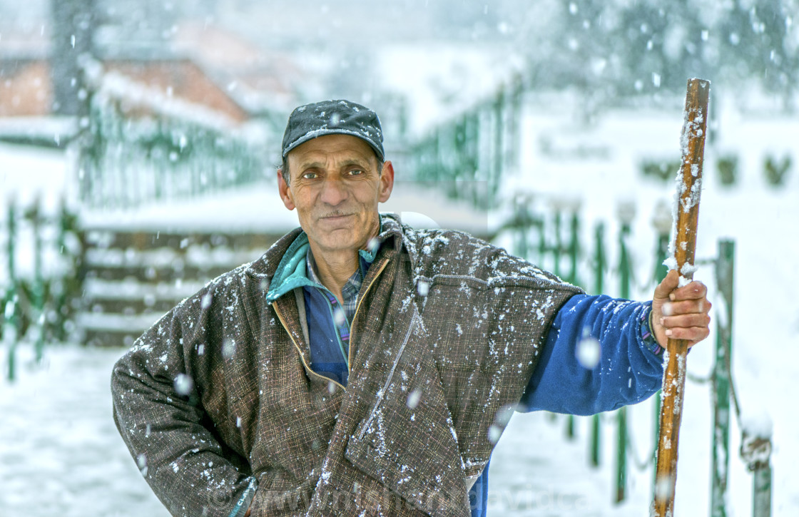 """""""The Snow Cleaner"""" stock image"""