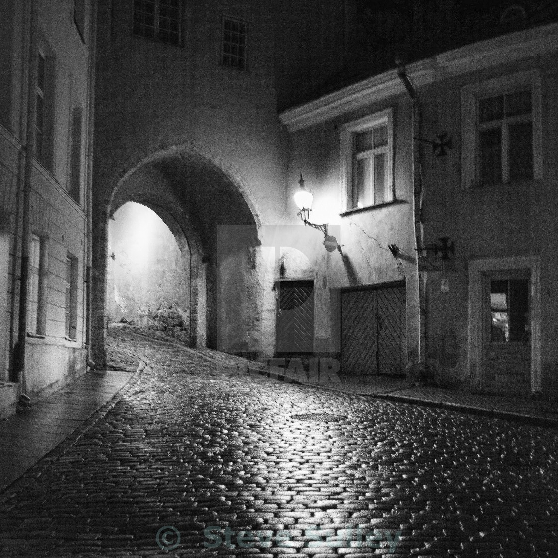 """Tallinn at night"" stock image"