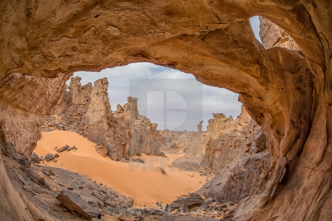 """The Sahara Cave"" stock image"