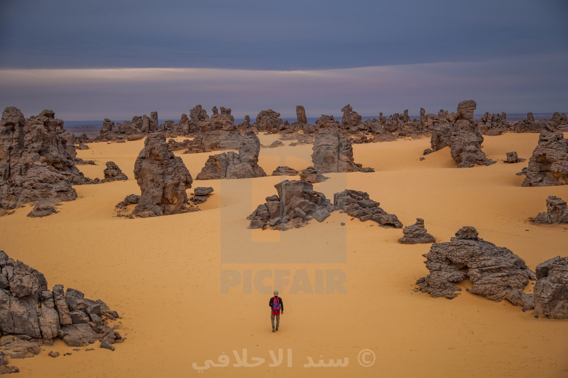 """The Ghost City in Libyan Sahara"" stock image"