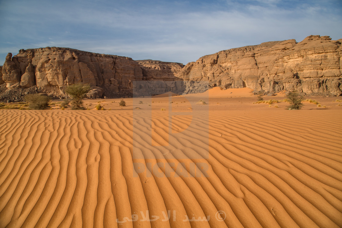 """Acacus Sand Sea"" stock image"