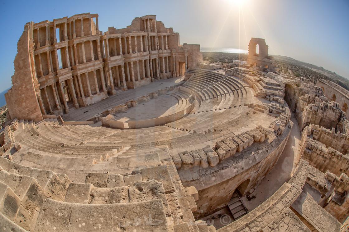 """Sabratha Temple Roman History"" stock image"