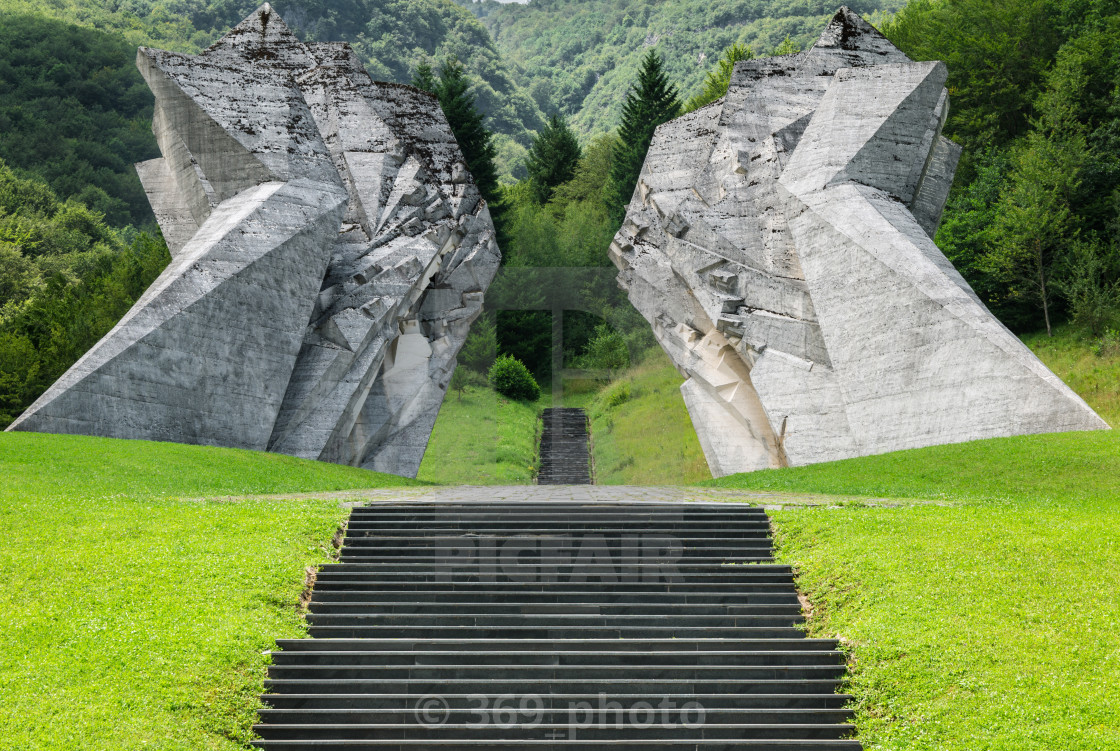 """War memorial in Sutjeska National parc"" stock image"