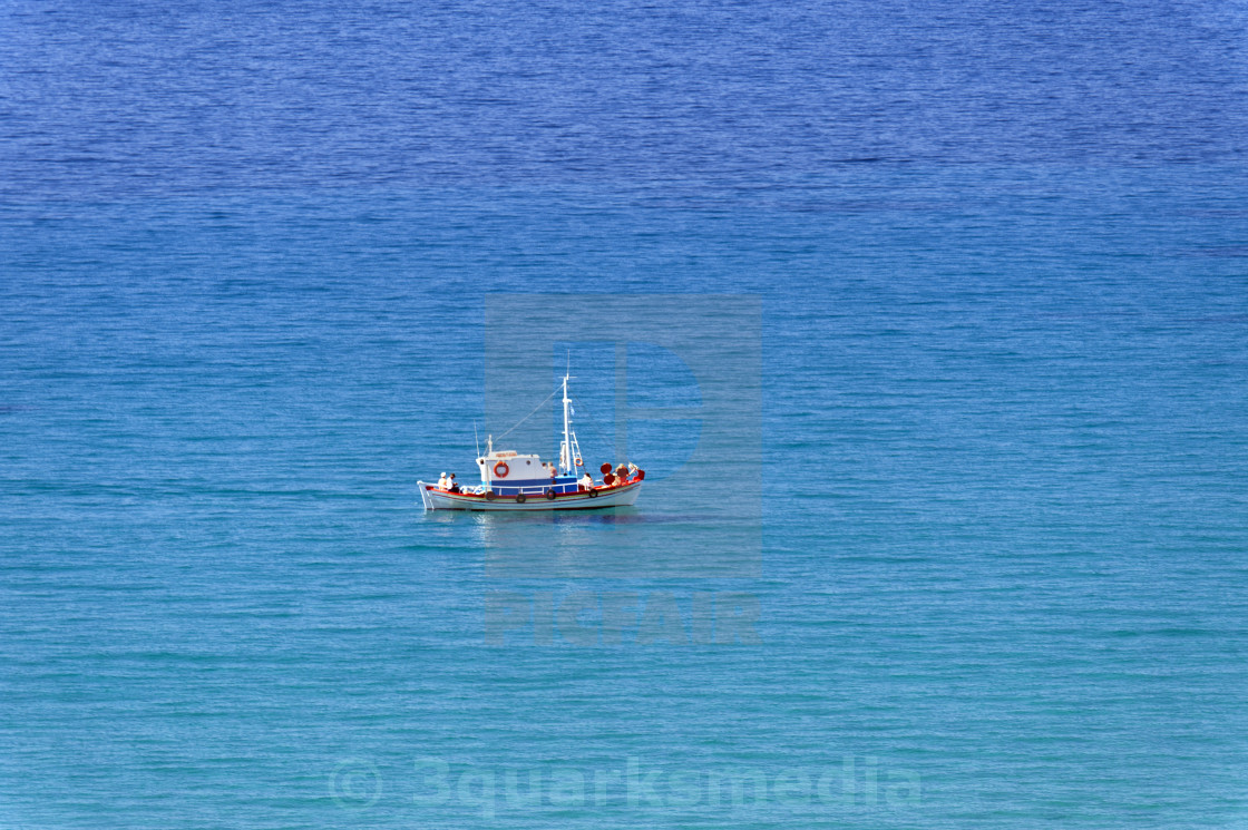 """Boat in the aegean"" stock image"