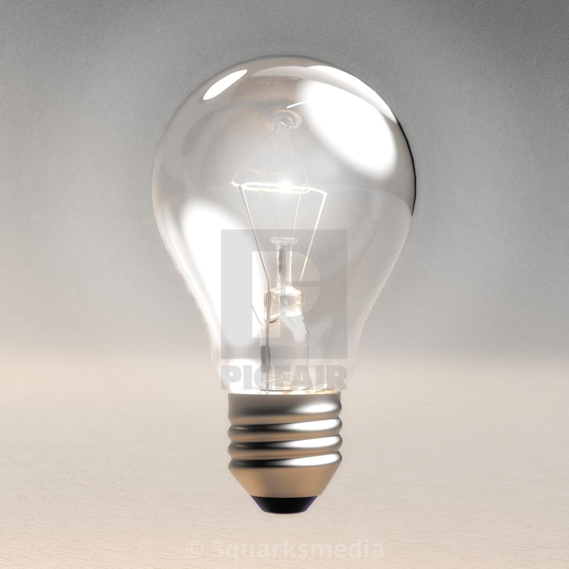 """Digital 3D Illustration of a Light Bulb"" stock image"