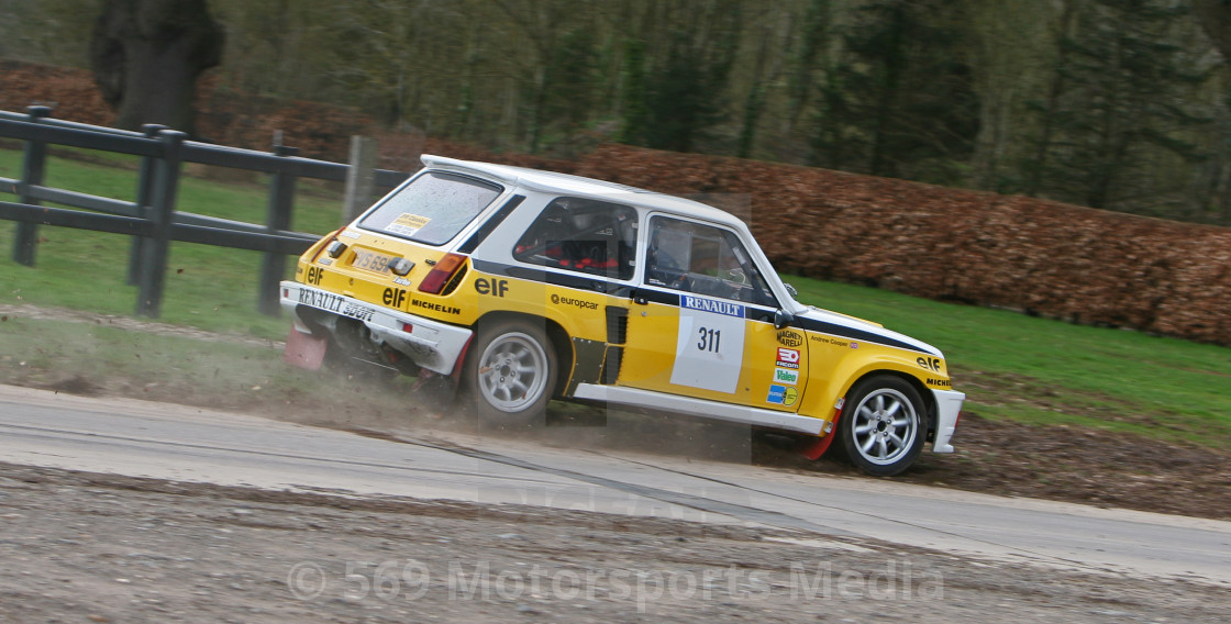 """Tour de Corse Renault 5 Turbo"" stock image"