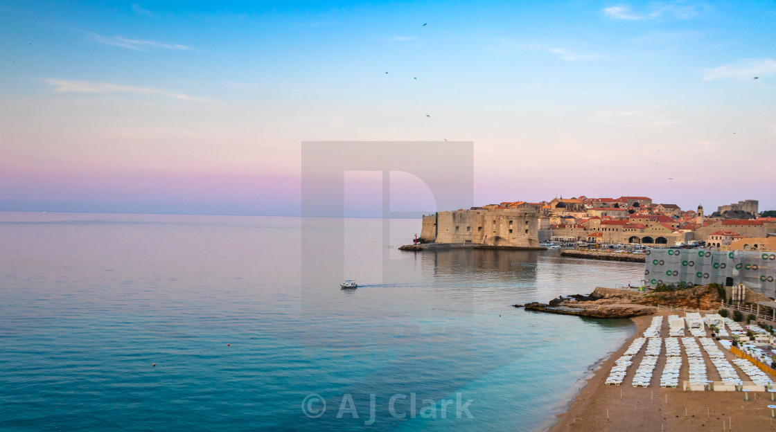 """Early morning in Dubrovnik"" stock image"