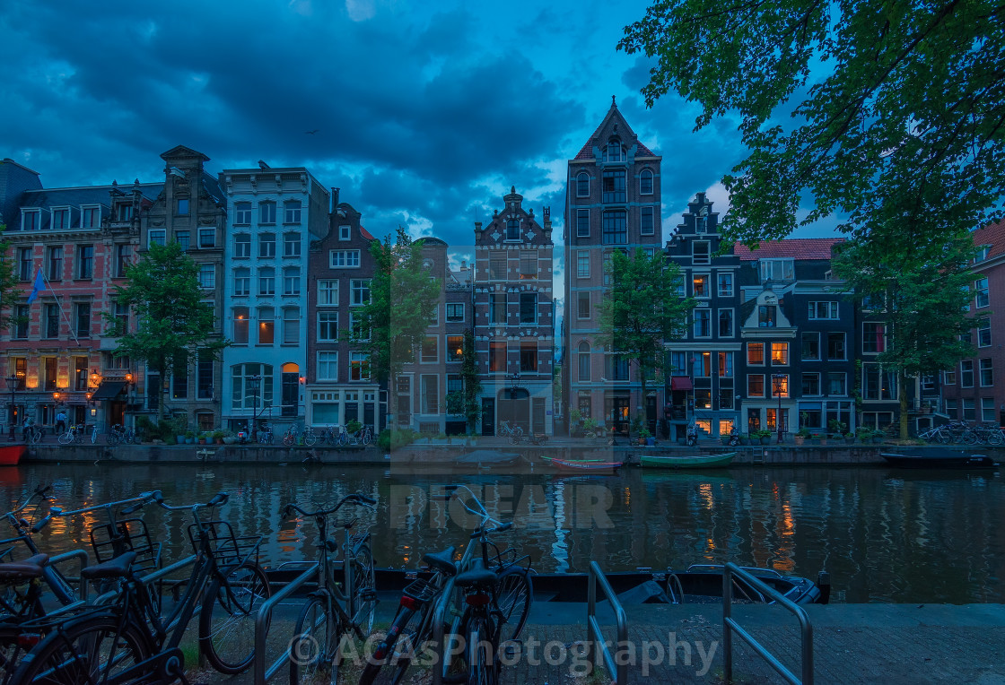 """""""Parking the vehicle in Amsterdam city"""" stock image"""