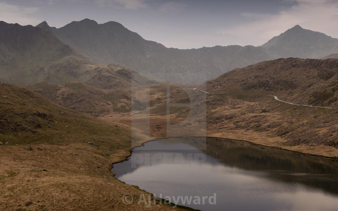 """LLyn Teyrn, Snowdonia"" stock image"