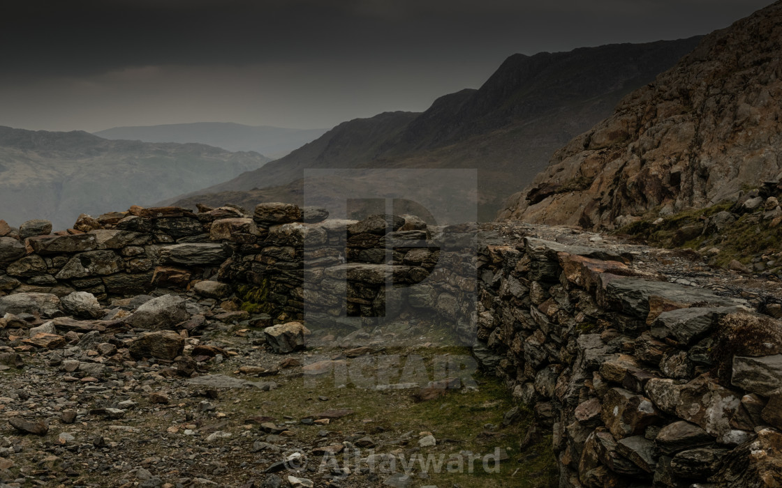 """Mountain ruins"" stock image"