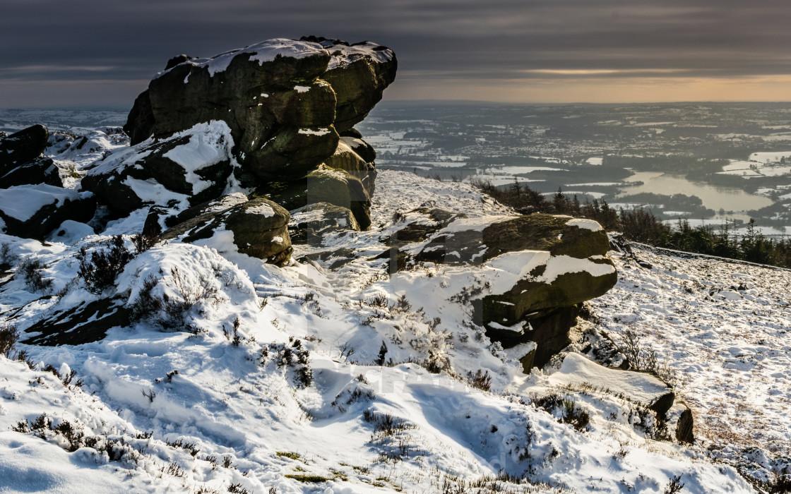 """Gritstone winter monolith"" stock image"
