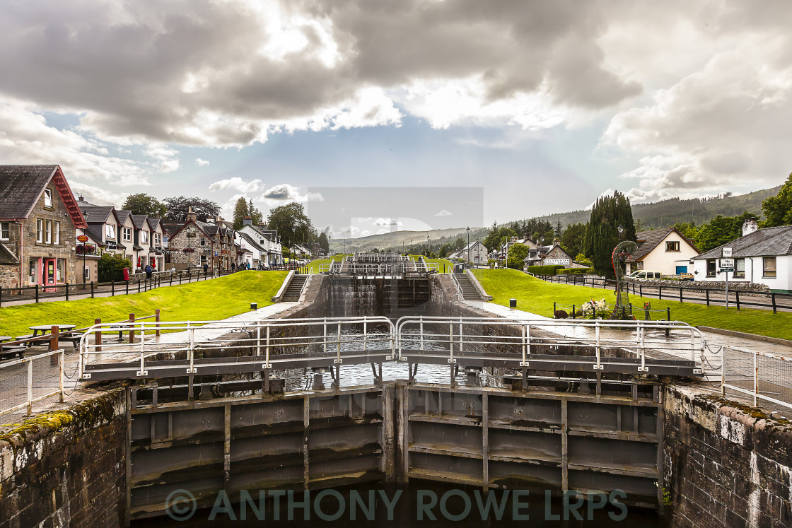 """Locks on the Caledonian Canal"" stock image"