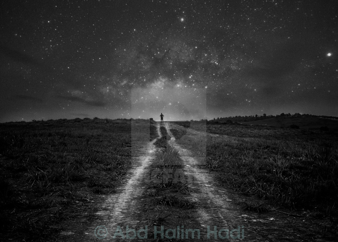 """Path to the milkyway"" stock image"