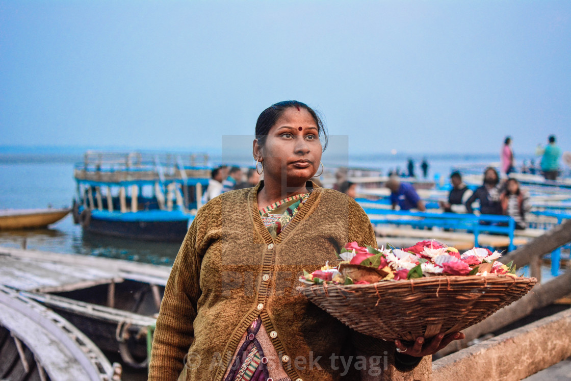 """Indian woman"" stock image"
